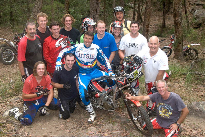 Most of the crew from Friday's session.